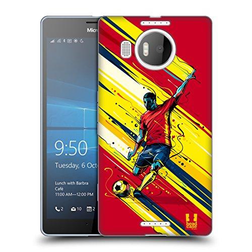 Head Case Designs Fahrt Fussball Aktion Soft Gel Huelle kompatibel mit Microsoft Lumia 950 XL