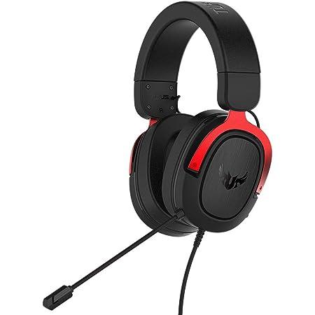ASUS TUF Gaming H3 - Cuffie da gaming per PC, PS4, Xbox One, Mac, Nintendo Switch e telefoni cellulari con audio surround 7.1, bassi potenti, design leggero, rosso