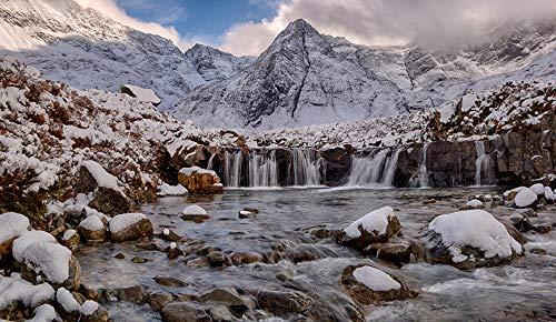 LFNSTXT Rompecabezas para adultos, 1000 piezas, de Scotland Mountains Stones Waterfalls Isla de Skye para adultos, familias y niños. Juguete educativo para decoración del hogar (27.6 x 19.6 pu