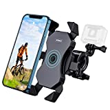 RTAKO Bike Phone Mount 360° Rotation Phone Holder for Bike Bicycle Motorcycle Motorbike Unbreakable Bike Phone Holder Support Face Touch ID Compatible for 4' to 6.8' Smartphones and GoPro