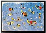 1art1 Wassily Kandinsky - Himmelblau, 1940 | Fußmatte Innenbereich und Außenbereich | Design Türmatte 70 x 50 cm