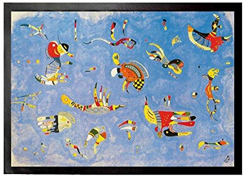 1art1 Wassily Kandinsky - Himmelblau, 1940 Fußmatte Türmatte 70 x 50 cm
