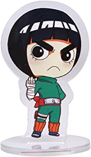 Bowinr Naruto Standing Figure, Japanese Animation Naruto Shippuden Desk Stand Miniature Action Figure for Kids Teens Adults and Anime-Fans(Rock Lee)