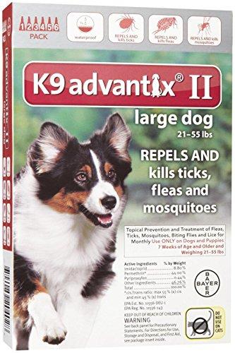 K9 Advantix II Flea and Tick Treatment - Large Dog - 6 Count