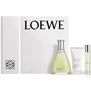 Loewe Agua Set de Eau de toillette (vaporizador natural 100 ml + natural spray 20 ml) y Bálsamo corporal (50 ml): Amazon.es: Belleza