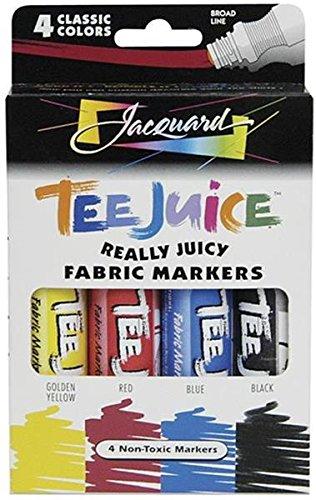 Tee-jus tissu marqueurs 4/Pkg-Classics
