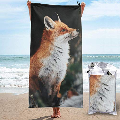 Bathroom Towels Shower Towels Toallas de playa ligeras, Red Fox Beach Towels 140 X 70