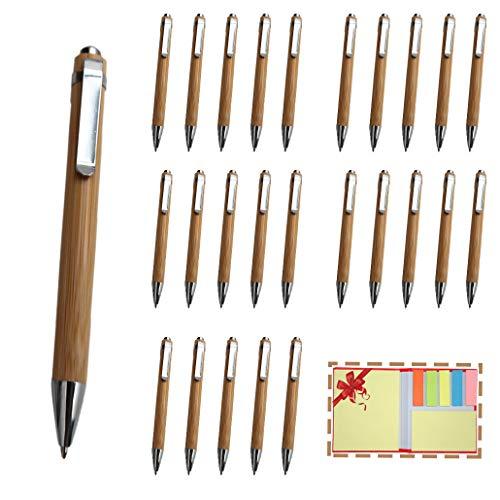 Projects Holz Kugelschreiber Set 25 Stück Bambus Kugelschreiber SPAR SET Holzkugelschreiber nachhaltig  Kugelschreiber Holz hochwertig verarbeitet   25 Kugelschreiber aus Holz Kulli Set