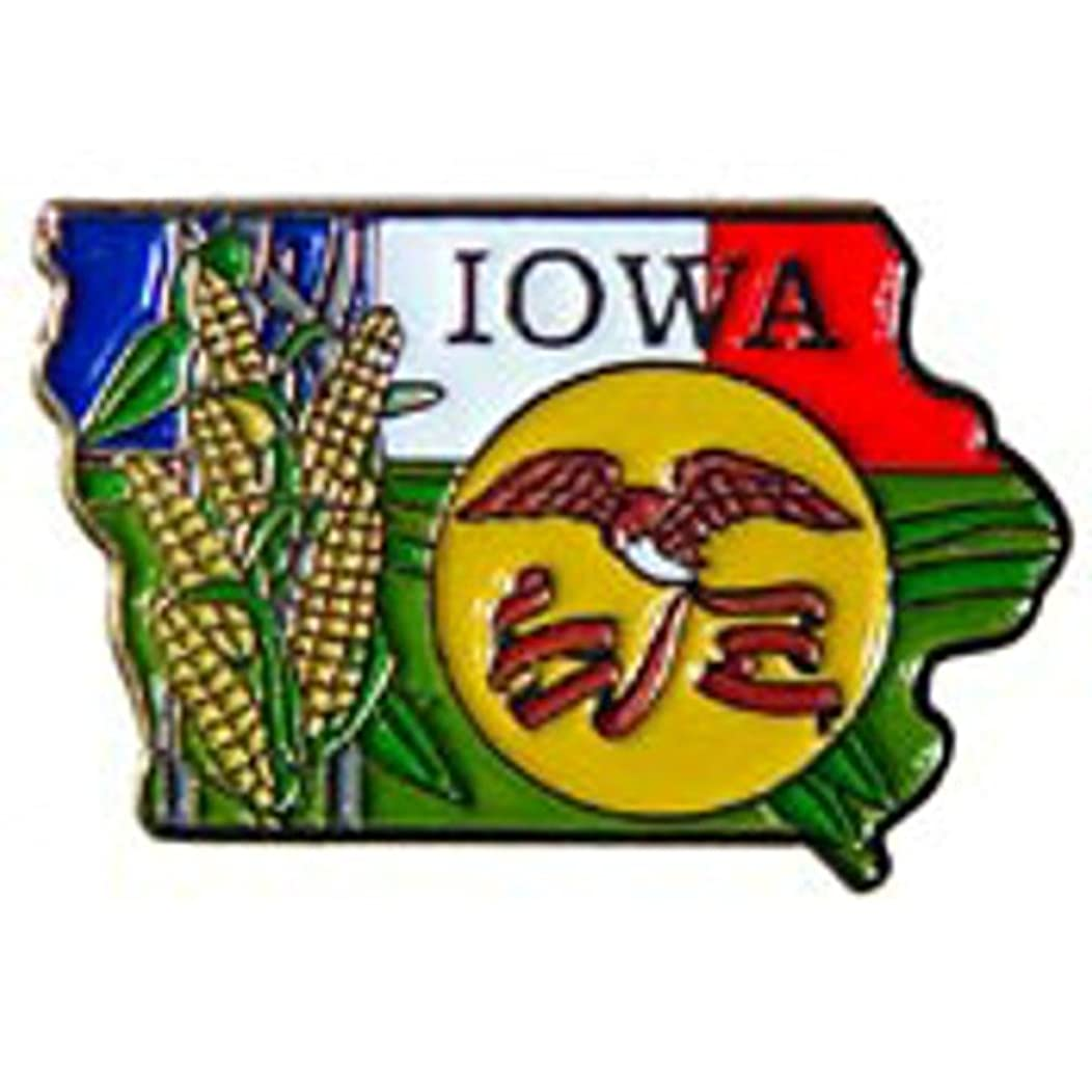 EagleEmblems P09216 PIN-Iowa (MAP) (1'')