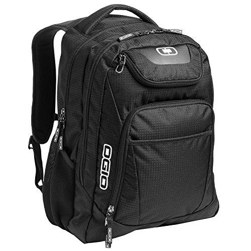 """OGIO 411069-BLACK Business Excelsior 17"""" Laptop Backpack/Rucksack, Black/Silver"""