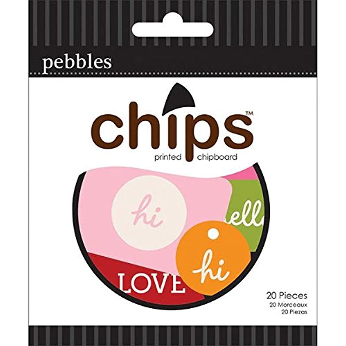 Pebbles Basics Printed Chipboard Chips