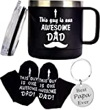 Best Father Ever Gifts, Father's Day Gifts, Best Dad Ever Socks, Best Papa Keychain, This Guy is One Awesome Dad Coffee Mug, Dad Gifts from Daughter and Son, Gift for Dad, Dad's Birthday Gifts