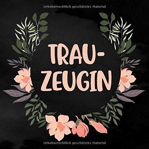 Trauzeugin: Blanko Notizbuch für die Trauzeugin zur Planung des JGA   ca. 21 x 21 cm   100 Seiten   Dot-Grid   Braut-Motiv   Notizbuch zur Vorbereitung des JGA und der Hochzeit