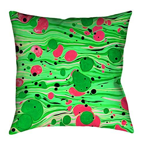 ArtVerse Katelyn Smith 16 x 16 Indoor//Outdoor UV Properties-Waterproof and Mildew Proof Washington Love Pillow