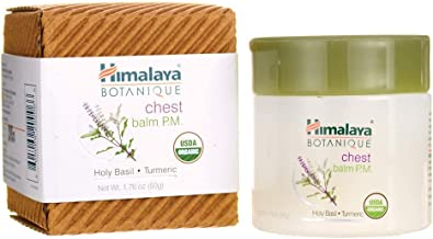 Himalaya Chest Balm with Eucalyptus, Turmeric and Holy Basil, Chest Rub for Chest & Nasal Congestion Relief, 1.76 oz (50 gm)