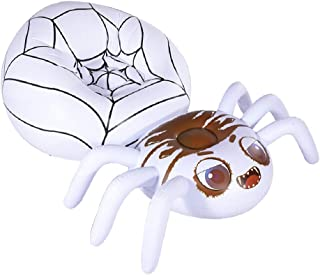 HIWENA Halloween Decorations Inflatable Spider Lounge, Inflatable Pool Lounge Air Chair, Halloween Fun Party Ideas Air Sof...