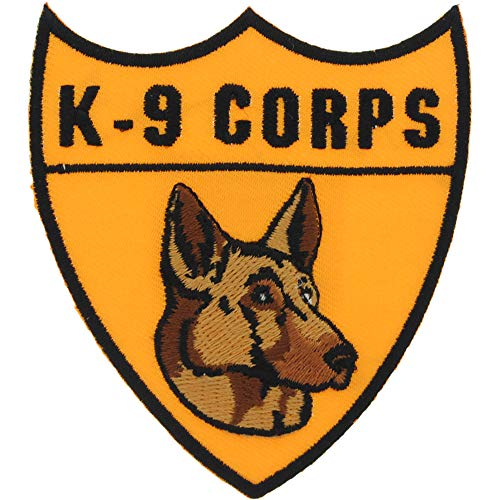 United States Army K-9 Military Police Corps Guard Embroidered Patches, with Iron-On Adhesive