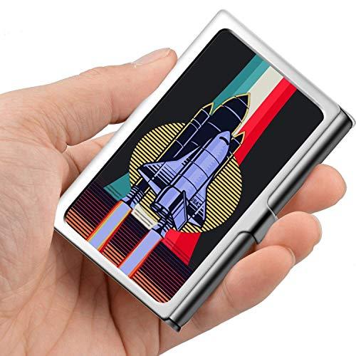Professionelle Visitenkarte, Brieftasche aus Edelstahl Kreditkarteninhaber ID-Kartenhalter Spaceship
