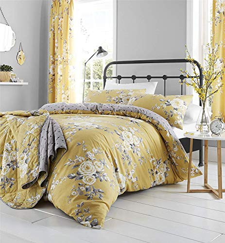 Catherine Lansfield Canterbury Easy Care Single Duvet Set Ochre