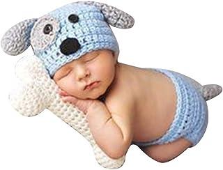 Fotografie Baby Strick Mütze Kostüm Fotoshooting Häkelkostüm Neugeborenen HOT