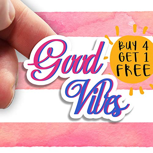 good vibes stickers roll
