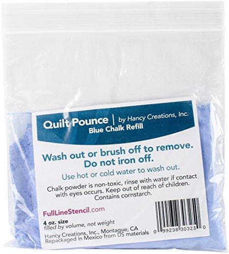 Hancy Couette Pounce Craie Refill-4 onces Bleu 2/Pkg