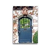 CALVENDO Premium Textil-Leinwand 30 x 45 cm Hoch-Format Tür in Zwingenberg an der Bergstraße, Leinwanddruck von Ilona Andersen