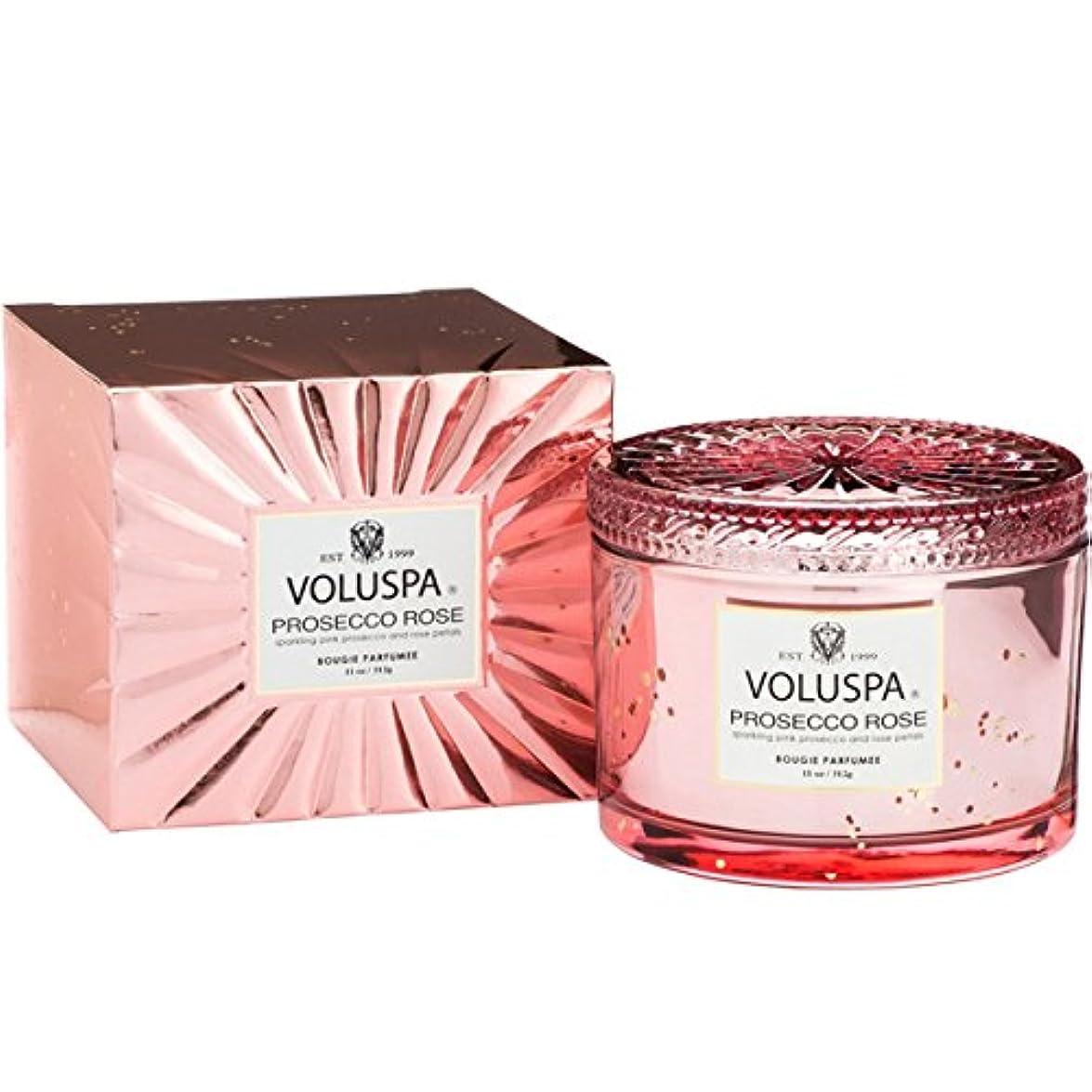 受粉する行商人スペイン語Voluspa ボルスパ ヴァーメイル ボックス入り グラスキャンドル フ?ロセッコロース? PROSECCO ROSE VERMEIL BOX Glass Candle