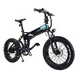 20 Pulgadas Bicicleta Eléctrica de Montaña,250W,36V 12.5Ah Batería Eliminado/Reemplazado,eBike Amortiguador Plegable con 3 Niveles Ajustables,31km/h,Asiento e Manillar Ajustable para Adultos,Shimano 7