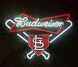 Queen Sense 20'x16' Budweisers STL St Louis Cardinal Neon Sign (VariousSizes) Beer Bar Pub Man Cave Business Glass Lamp Light DC448