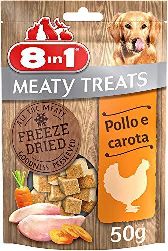 8in1 Snack di Carne Liofilizzati con Pollo e Carote, 50 g