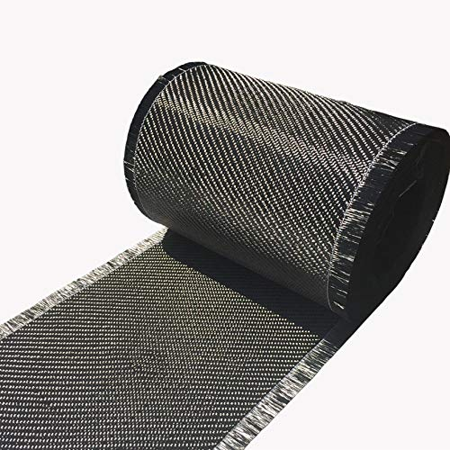 4 in x 5 FT - Carbon Fiber FABRIC-2x2 Twill WEAVE-3K - 220g-Black