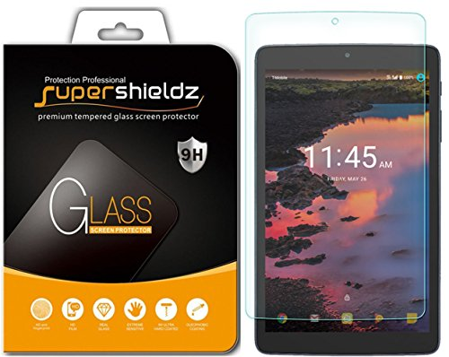 (2 Pack) Supershieldz for Alcatel A30 Tablet 8 inch (Tempered Glass) Screen Protector, Anti Scratch, Bubble Free