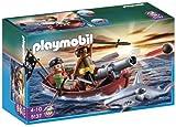 PLAYMOBIL - Bote Pirata con tiburón (5137)