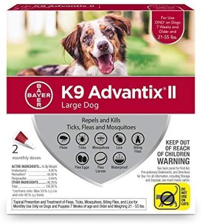 Bayer Advantage K9 Advantix Red Pack 2 Dog Large Luxury Max 76% OFF