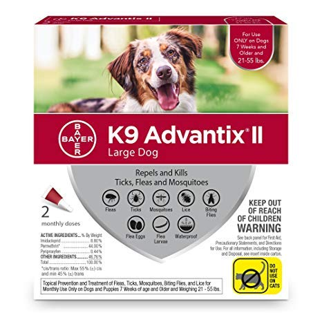 Bayer Advantage, K9 Advantix Red Large Dog 2 Pack