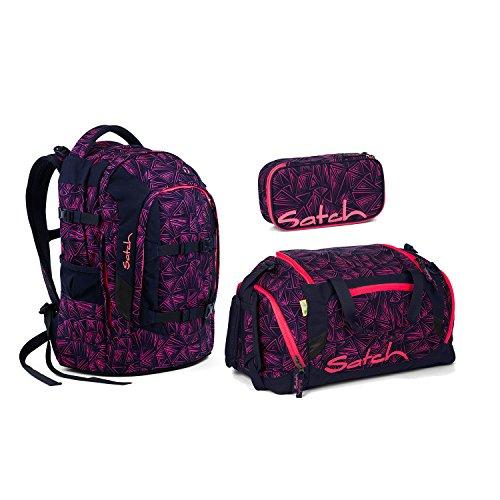 Satch Pack Pink Bermuda Schulrucksack Set 3tlg.
