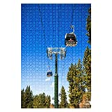 1000 Piece Puzzle Heavenly ski Resort Gondola South Lake Tahoe Indoor ActivitiesDifficult Jigsaw Puzzle Set for Adults Children Educational Toys Gift
