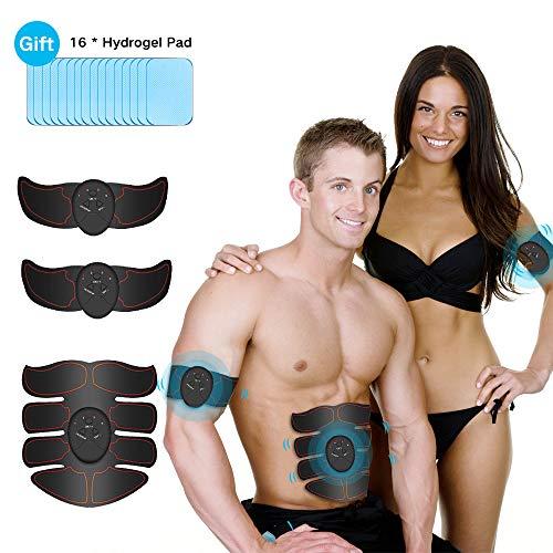 iThrough Muskelstimulator, Bauchmuskeltrainer mit 6 Modi & 10 Intensitäten - Hilfe beim Abnehmen, Muskelaufbau und Figurformung - Bauchmuskeltrainer Muskeltrainer für Männer & Frauen