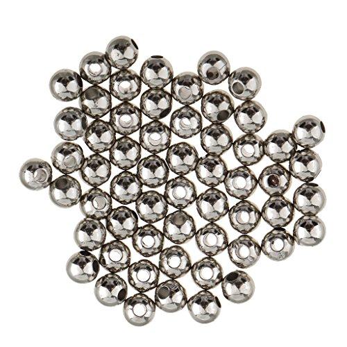 Harilla Espaciador de Cuentas Sueltas de Hierro de 100 Piezas de 5 Mm para Fabricación de Collar de Pulsera de Mujer