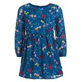 Nautica Toddler Girls' Long Sleeve Floral Dress, Moroccan, 3T
