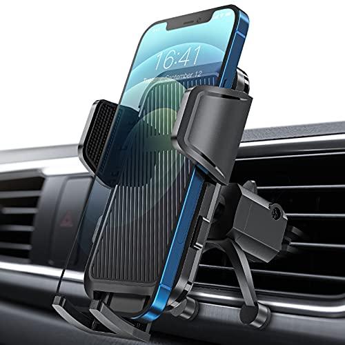 Onmaita Porta Cellulare per Auto, Supporto Cellulare Auto Regolabile a 360°, Universale Porta Telefono Auto per iPhone13 12 11  XS Xr X 8 Plus 7 Plus 6 6S, Samsung Galaxy S20 S10, LG, Sony, Huawei