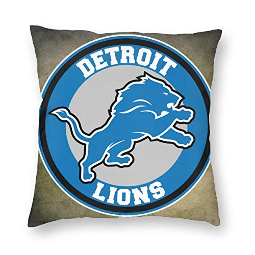 "Griffithnelle White Square Pillow Detroit Lions 22""x22"" Best Pillow Awesome Backrest Pillow"