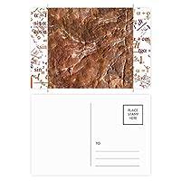 茶色の岩粗面パターン 公式ポストカードセットサンクスカード郵送側20個