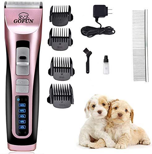 Hundeschermaschine - 3-Gang-Turbo(5500RPM/ 6500RPM / 7100RPM) Haarschneidemaschine Hunde Haustier Tierhaarschneidemaschine Schermaschine hund langhaar akku Timmer Haustier Hundetrimmer Geräuscharmer