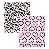 Hudson Baby Unisex Baby Coral Fleece Plush Blankets, Leopard Heart, One Size