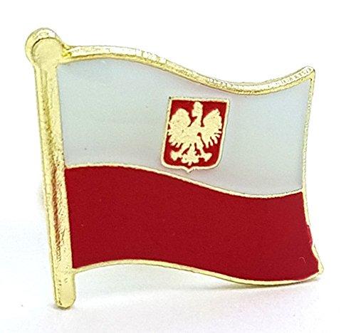 Shopiyal Brosche mit Nationalflagge Polen, Adler, Emaille, hochwertige Metall-Emaille, Anstecknadel zum Sammeln von Schmuck, Hemd, Jacken, Mäntel, Krawatte, Hüte, Taschen, Rucksäcke
