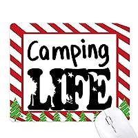 生命引用キャンプ ゴムクリスマスキャンディマウスパッド
