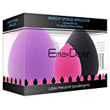 EmaxDesign Set de 3 esponjas para aplicar maquillaje, corrector, polvo, crema y...
