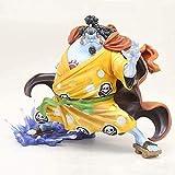 YanZiHuFuPin Modelo de una Pieza Sombrero de Paja Piratas en un timonel Jinbe Fishman Tiburón Ballena Siete Wuhai Anime Estatua Colección Estatua Decoración de Escritorio Estatua PVC Altura 25 cm